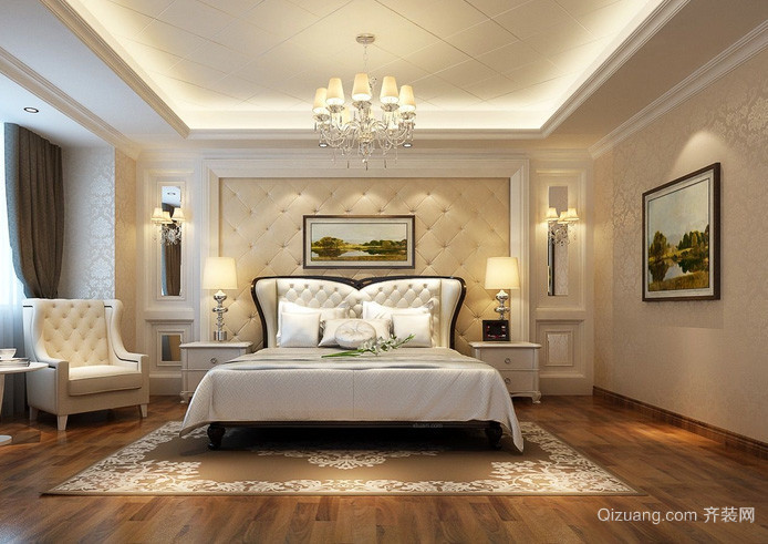 复式楼欧式风格卧室装修效果图