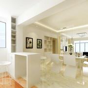 大户型公寓简洁吧台装修设计效果图