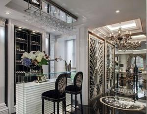 别墅后现代风格奢华酒柜吧台装修效果图
