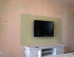 欧式简约风格印花客厅电视背景墙装饰
