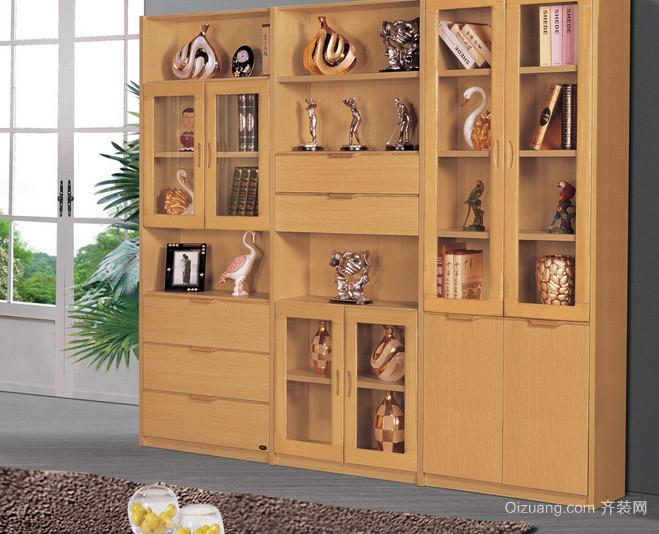 别墅精致型书柜设计效果图