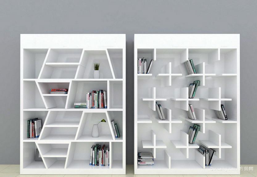 单身公寓自然风格书柜设计效果图