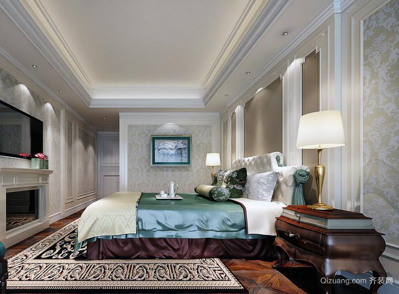 简欧大户型卧室背景墙装修效果图