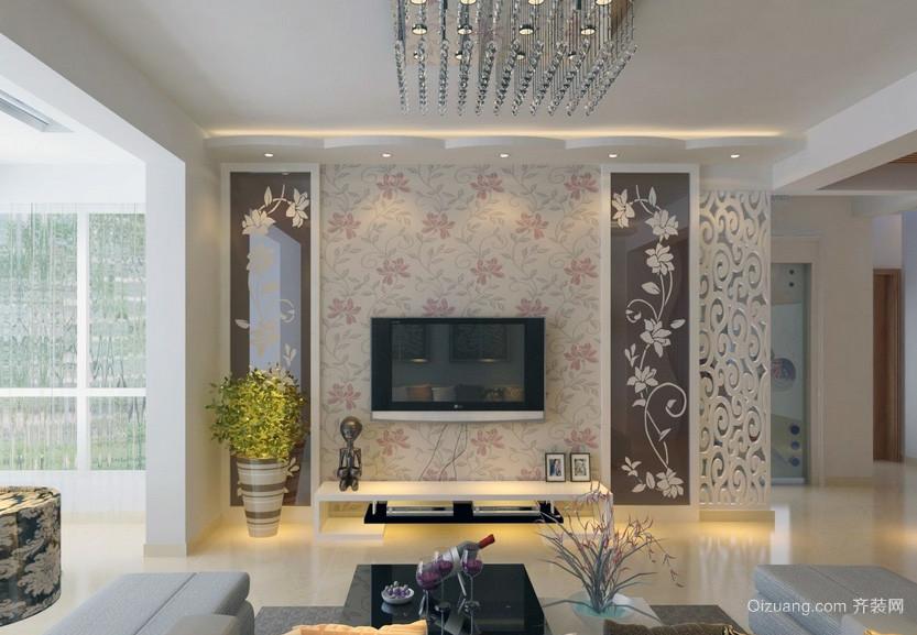 现代精美大户型电视背景墙装修效果图