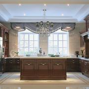 独特欧式大户型厨房装修效果图