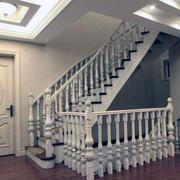 现代欧式别墅型实木楼梯装修效果图