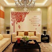 二居室简约风格沙发背景墙效果图