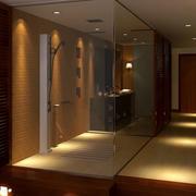 快捷式商务酒店简约风格卫生间装修效果图