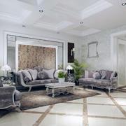 都市精美大户型沙发背景墙装修效果图