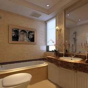 别墅简欧风格奢华洗手间装修效果图