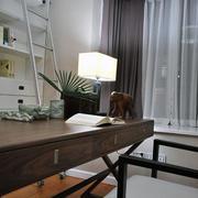 45㎡欧式温馨小户型书房装修设计效果图