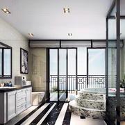 精美的卫生间飘窗设计