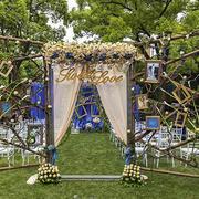 欧式田园风格外景婚礼现场布置效果图