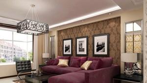 100平米都市风格沙发背景墙效果图