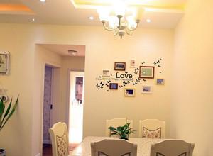 小公寓餐厅背景墙贴纸装修效果图
