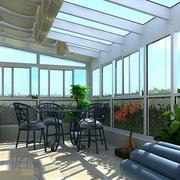 北欧风格清新阳光房桌椅装修效果图