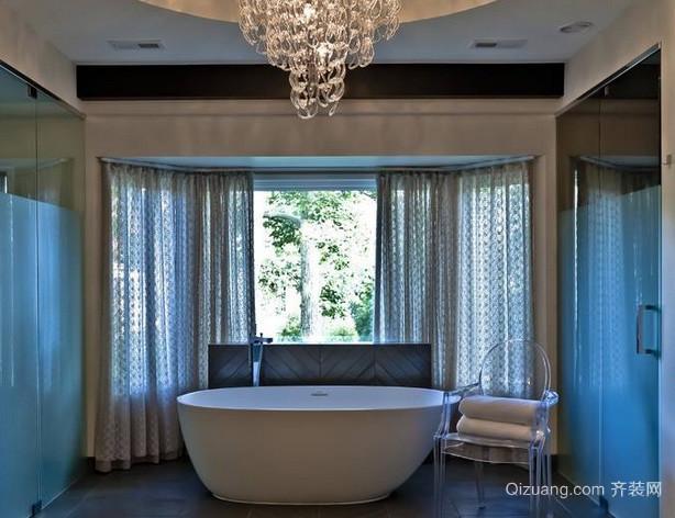 大户型后现代风格精美洗手间浴缸装饰效果图