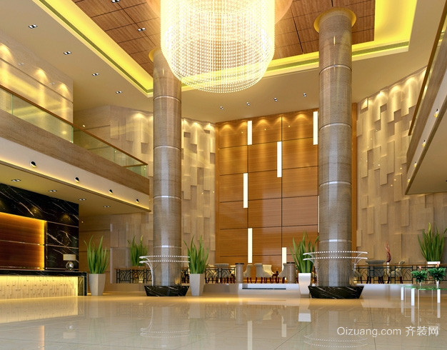 酒店式公寓奢华欧式前厅装修效果图