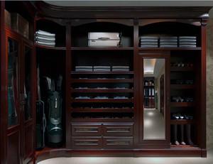 完美欧式大户型实木衣柜装修效果图