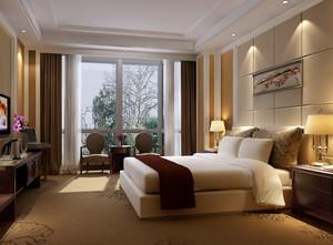 现代简约风格商务酒店客房装修效果图