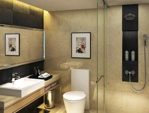 简欧风格商务酒店卫生间装修效果图