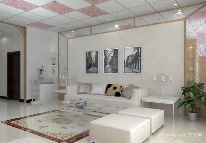 大户型宜家风格沙发背景墙效果图