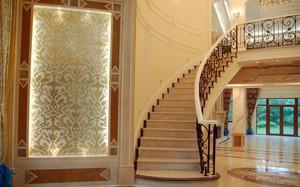 简欧式豪华别墅楼梯设计效果图片