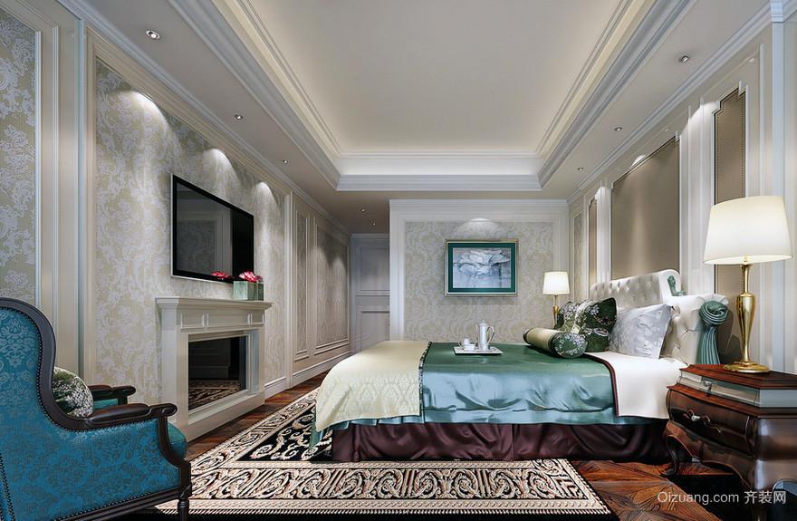 现代欧式别墅型卧室背景墙装修效果图