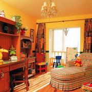 美式乡村风格书房装修设计效果图