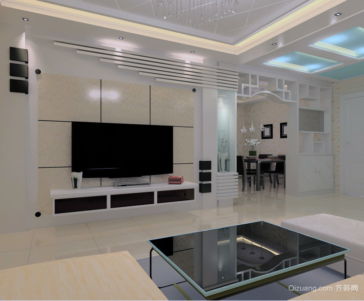 欧式大户型唯美电视背景墙装修效果图