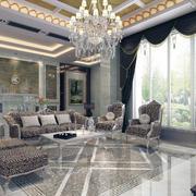 舒适豪华大户型欧式客厅装修效果图