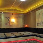 30平米简约韩式浅色原木汗蒸房装饰效果图