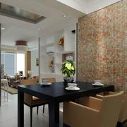三室两厅简约风格餐厅窗帘装饰