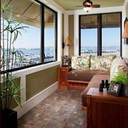 大户型阳台转角沙发装修设计效果图