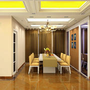 108平米精致风格餐厅装修效果图