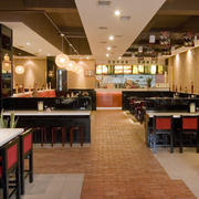 100平米中式简约风格快餐店装修效果图