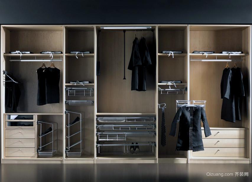 欧式大户型时尚衣柜设计装修效果图