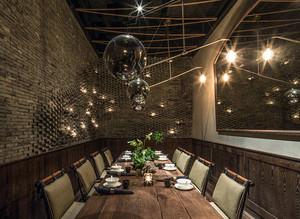 90平米创意loft风格餐厅装修效果图