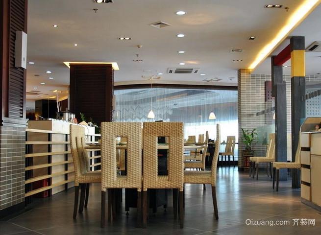 90平米现代简约风格快餐店装修效果图