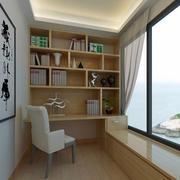 都市明亮家居小书房装修设计效果图
