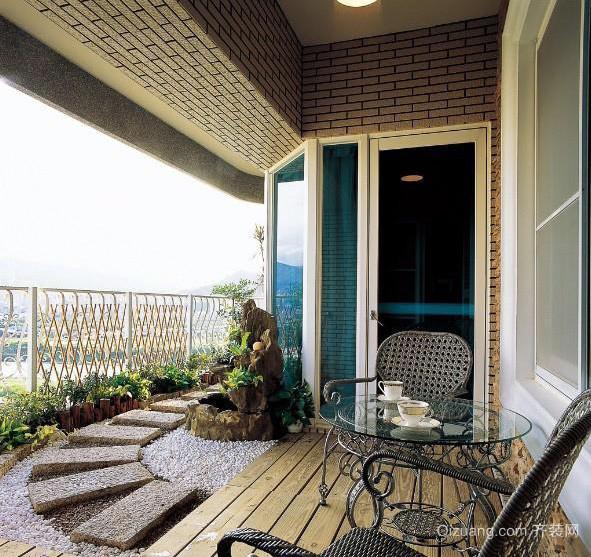 大户型家居阳台装修设计效果图