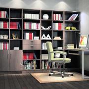 都市家庭大户型小书房装修效果图