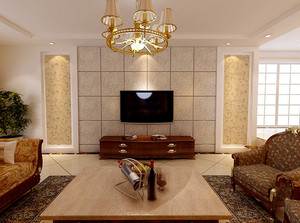 别墅宜家风格客厅电视背景墙效果图