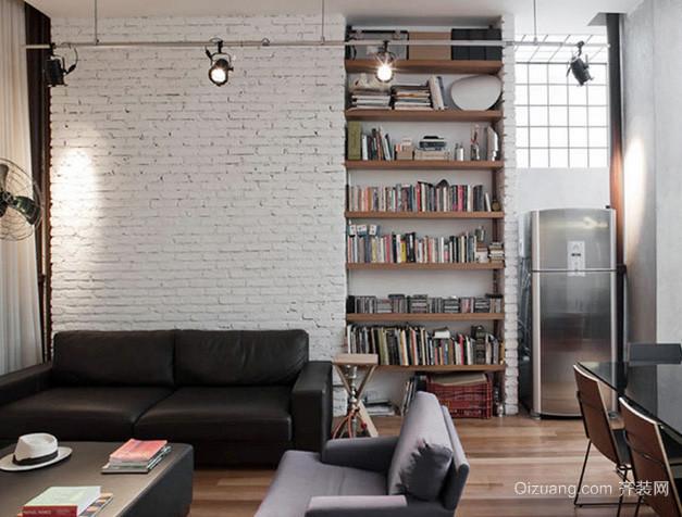loft风格简约混搭风格客厅装修效果图