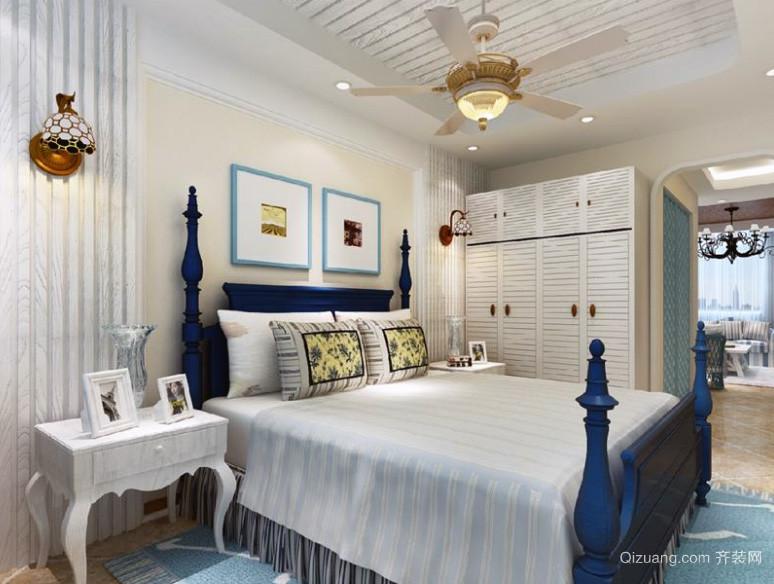 现代大户型地中海风格卧室装修效果图