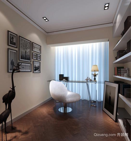 三居室浓墨书香书房设计装修效果图