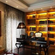 陶冶情操的大户型书房装修设计效果图