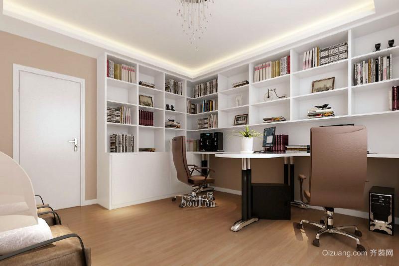 现代简约大户型书房装修设计效果图