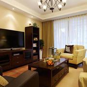 三室两厅简约美式客厅装饰