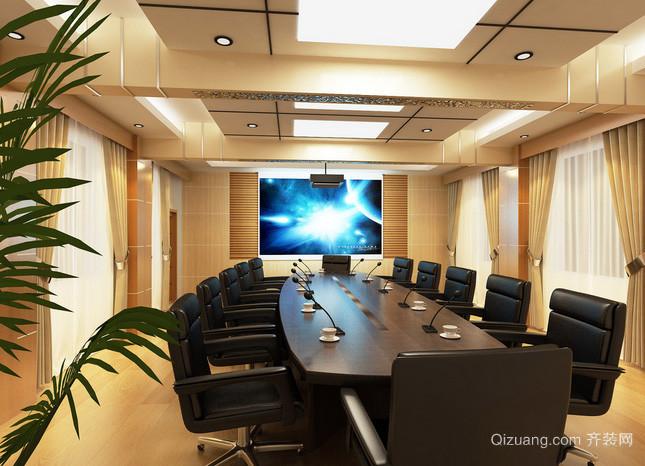 上市企业大气型会议室设计装修效果图